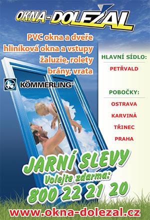 Letáky pro Okna-Doležal, spol. s r.o.