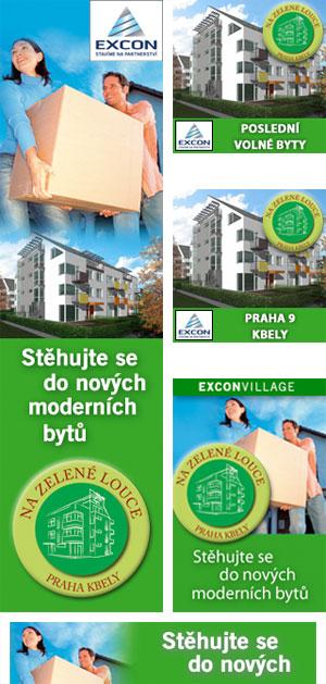 Excon Village - reklamní bannery