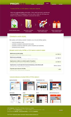 Profi CSS - tvorba XHTML a CSS šablon