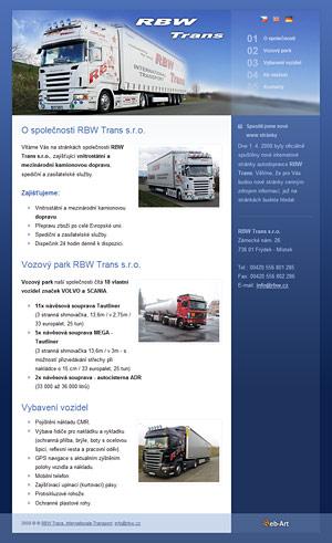 RBW Trans - autodoprava