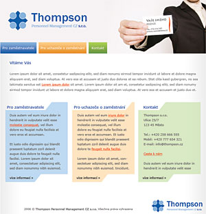 Thompson Personnel Management CZ