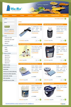 Elektronický obchod Ha-Ra (e-shop)