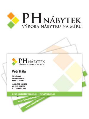 Vizitky a logo pro PH Nábytek