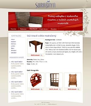 Surabaya - prodej nábytku z exotických materiálů